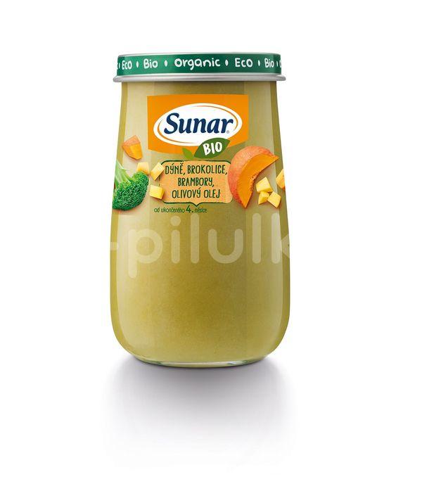 Sunar BIO příkrm dýně, brokolice, brambory, olivový olej 190g