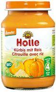 Holle bio dětská přesnídávka Dýně s rýží 190g