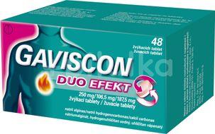 Gaviscon Duo Efekt Žvýkací tablety 48ks