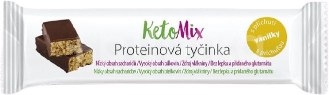 KetoMix proteinové tyčinky s příchutí vanilky 40g