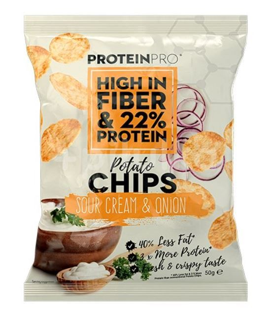 ProteinPRO chipsy smetana-cibule 50g