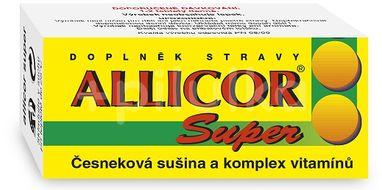 Allicor Super česnek+komplex vitamínů 60 tablet