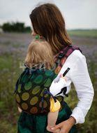Kinder Hop Rostoucí ergonomické nosítko Multi Soft Dots Rainbow, 100% bavlna, žakár