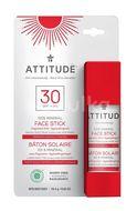 ATTITUDE 100% minerální ochranná tyčinka na obličej a rty (SPF 30) bez vůně 18,4g