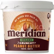 Meridian Bio Arašídové máslo 100% křupavé crunchy 1000g