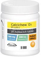 Calcichew D3 20 žvýkacích tablet