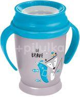 Lovi Hrníček s úchyty 360 Junior, bez BPA, Indian summer modrý 250ml