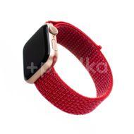 FIXED Nylonový řemínek Nylon Strap pro Apple Watch 44mm/ Watch 42mm, červený 1ks