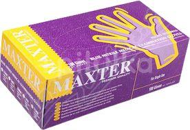 Maxter Rukavice nitrilové vel.M bezprašné 100ks