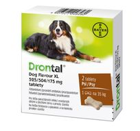 Drontal Dog Flavour XL 525/504/175mg 2 tablety