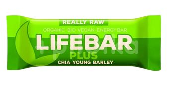 Lifefood Lifebar plus chia semínka a mladý ječmen BIO 47g