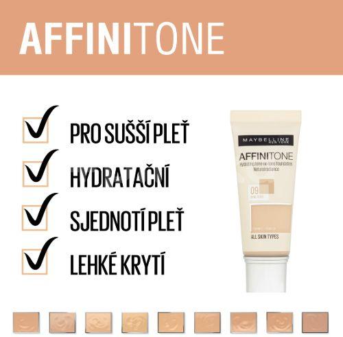 Maybelline Affinitone make-up odstín 02 Light Porcelain 30ml