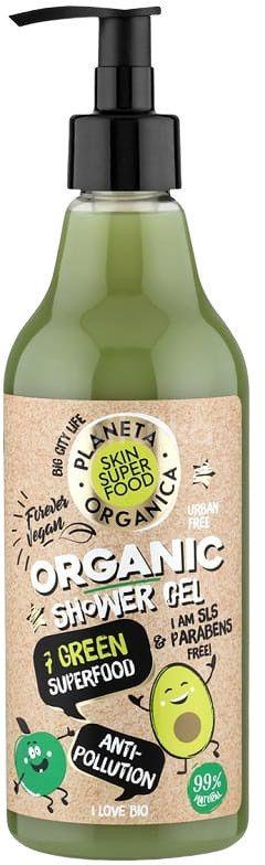 Planeta Organica Přírodní sprchový gel - Organických 7 zelených super složek 500ml