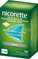 Nicorette® Classic Gum 2 mg, léčivá žvýkací guma 105ks