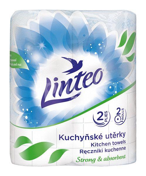 Kuchyňské utěrky LINTEO 2 role, 2-vrstvé