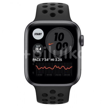 Apple Watch Nike S6 GPS + Cellular, 44mm Space Grey Aluminium Case, Anthracite/Black Nike Sport Band, Regular 1ks