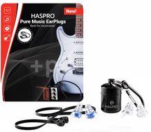 Haspro Pure Music špunty do uší pro muzikanty, modré S/M 2 páry