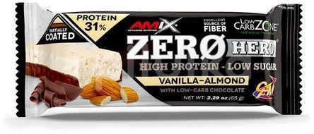 Amix Zero Hero 31% Protein Bar, Vanilla-Almond, 65g