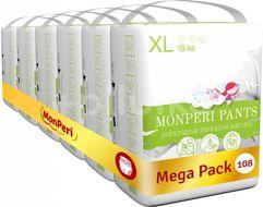 MonPeri Pants Mega pack XL 13–18 kg Eko Jednorázové plenkové kalhotky 108ks