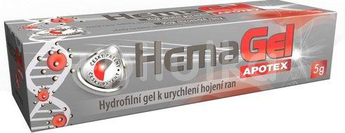 Hemagel hydrofilní gel na rány 5g