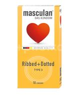 Masculan Kondomy s výstupky a vroubky 10ks