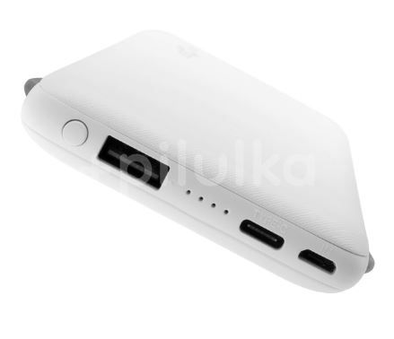 FIXED Powerbanka Zen 10 000 s kabelem Lightning/USB-C, 10 000 mAh, bílá