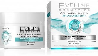 Eveline 3D Collagen & Elastin Denní/noční krém 50ml