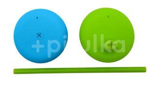 b.box Univerzální silikonová víčka modré/zelené