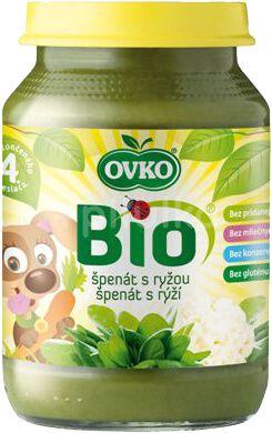 OVKO Bio špenát s rýží 190g