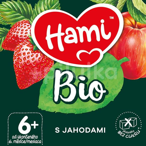 Hami BIO ovocný příkrm S jahodami 190g, 6+