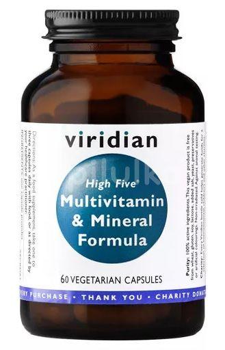 Viridian High Five Multivitamin & Mineral Formula 60kapslí