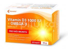 Vitamín D3 1000 IU + Omega-3 60 kapslí