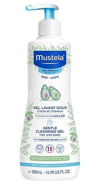 Mustela Jemný čisticí tělový a vlasový gel 500ml