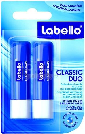 LABELLO CLASSIC tyčinka na rty duopack 2x4,8g