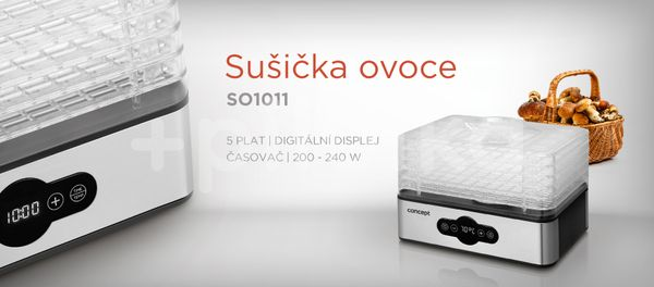 Concept SO1011 Sušička ovoce digitální 240 W
