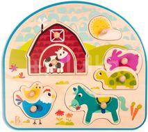 B-Toys Puzzle dřevěné s úchyty Farma