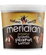 Meridian Organic 100% Arašídové máslo hladké smooth 1000g