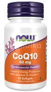 Now Foods Koenzym Q10 (s vitamínem E a selenem) 50mg, 50 kapslí