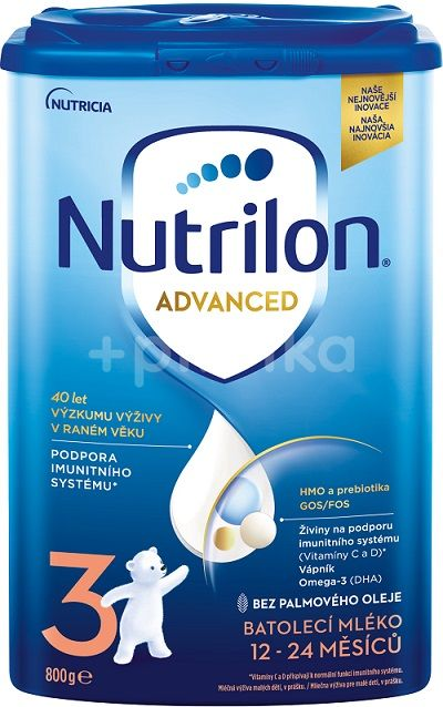 Nutrilon 3 Advanced batolecí mléko 800g