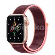 Apple Watch SE GPS + Cellular, 40mm Gold Aluminium Case, Plum Sport Loop 1ks