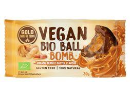 GoldNutrition Vegan Bio Ball Bomb arašídové máslo 30g