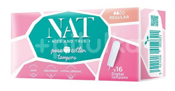 NAT nice & true Tampony z organické bavlny Regular 16ks