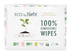 Naty Eco Vlhčené ubrousky bez vůně pro citlivou pokožku 3x56ks