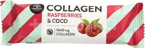 HAPPYLIFE Kolagenová kokosová tyčinka - malina 40g