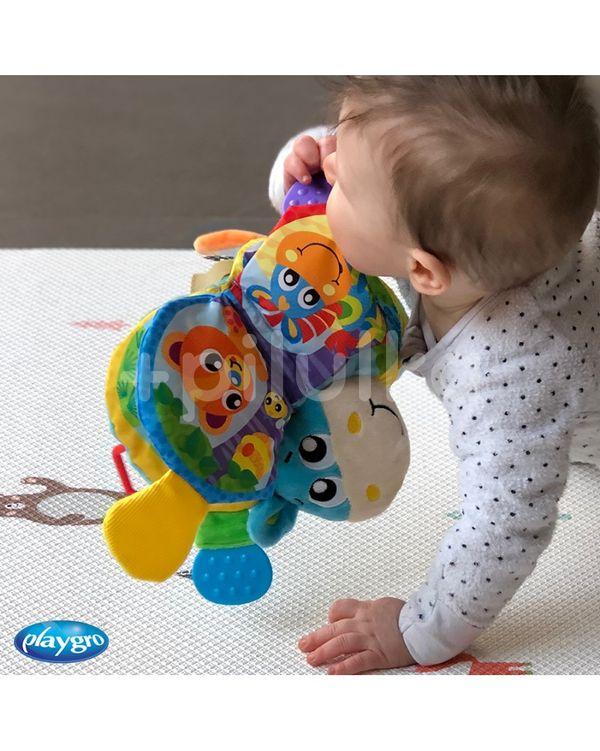 Playgro - Kousací knížka oslík se zvukem