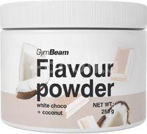 GymBeam Flavour powder bílá čokoláda kokos 250g