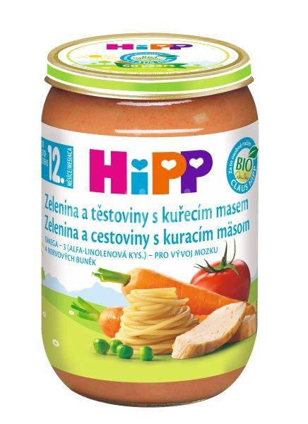 HIPP DĚTSKÉ MENU BIO zelenina a těstoviny s kuřecím masem 220g
