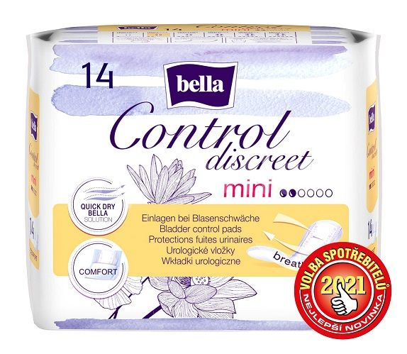 Bella Control Discreet mini urologické vložky 14ks