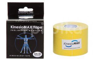 Tejp. KinesioMAX kinesio tape žlutá 5cmx5m