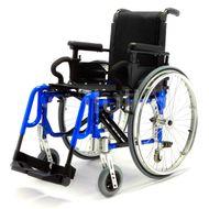 DMA Basic light plus Invalidní vozík šířka sedu 42 cm Modrý